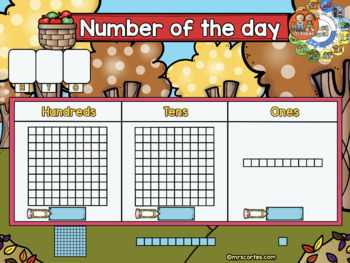 SMARTBOARD Calendar Math- October  FALL VERSION (English)