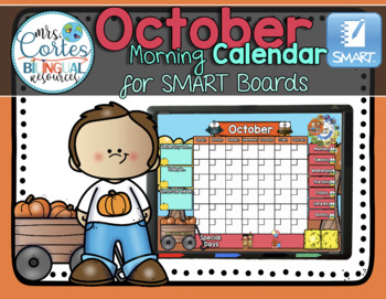 SMARTBOARD Calendar Math- October  FALL VERSION (English)