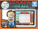 SMARTBOARD Calendar Math- October  FALL VERSION (Spanish)