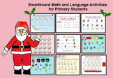 SMARTBOARD: Christmas Math and Language (primary activities with flash)