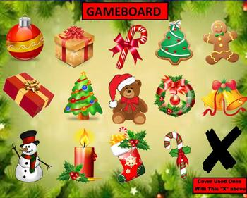 SMARTBOARD Christmas or Holiday Game Template
