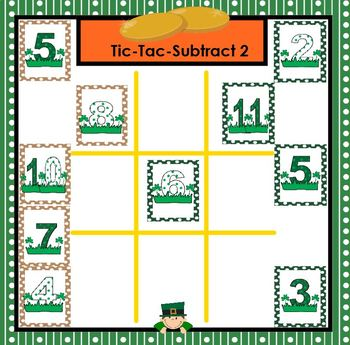 SMARTBOARD Computation Games:  NO PREP St. Patrick's Day Games