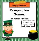 SMARTBOARD Computation Games:  NO PREP St. Patrick's Day Games
