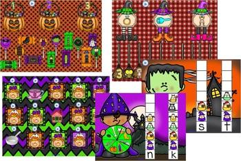 SMARTBOARD Halloween Themed Literacy Games