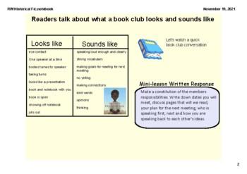 SMARTBOARD Historical Fiction Reader's Workshop