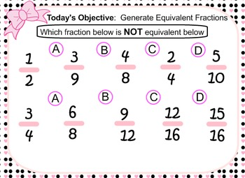 SMARTBOARD LESSON: Equivalent Fractions with Number Lines CCSS 4.NF.A.1