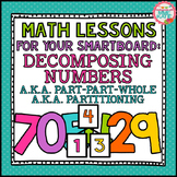 SMARTBOARD Math Lessons: Decomposing Numbers, Part-Part-Wh