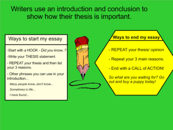 SMARTBOARD - Persuasive/Opinion Writer's Workshop