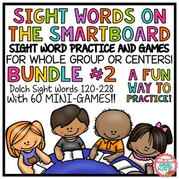 SMARTBOARD Sight Words and Interactive Mini-Games - Bundle #2 (Sets 11-19)
