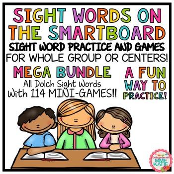 SMARTBOARD Sight Words and Interactive Mini-Games - Mega B
