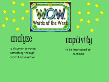SMARTBOARD - Word of the Week - W.O.W.