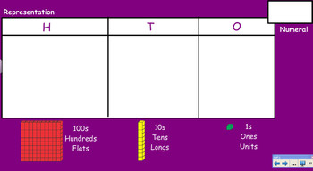 SMARTBOARD base ten 10 MABs TEACHING RESOURCE