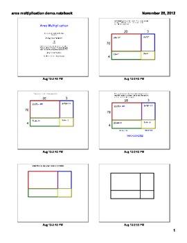 SMARTBOARD lesson on area multiplication