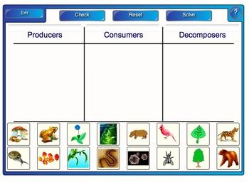 SMARTBoard Activity: Sorting Herbivores, Carnivores,Omnivores