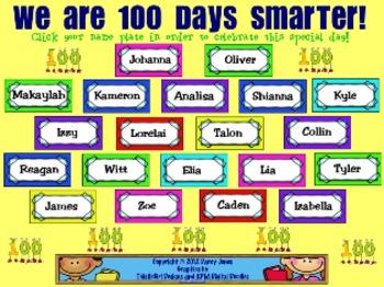 SMARTBoard Attendance - 100 Days Smarter!