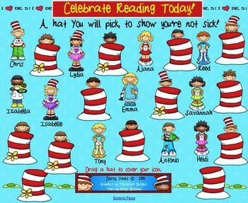 SMARTBoard Attendance - Celebrate Reading Today!