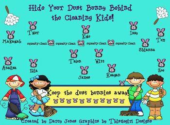 SMARTBoard Attendance - Dust Bunnies!