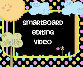 SMARTBoard Attendance Editing Video