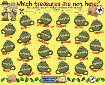 SMARTBoard Attendance - Exploring Treasures!