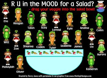 SMARTBoard Attendance - Salad Time!