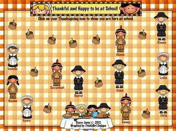 SMARTBoard Attendance - Thanksgiving