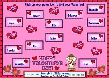 SMARTBoard Attendance - Valentine