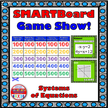 SMARTBoard Game Show: Systems of Equations