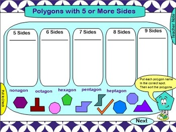 Geometry SMARTBoard File: Polygons