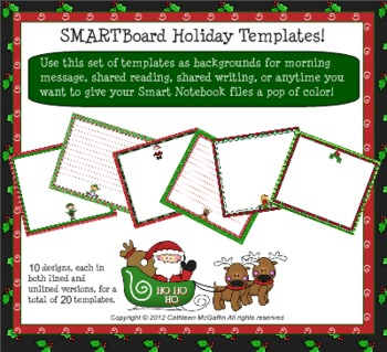 SMARTBoard Holiday Templates