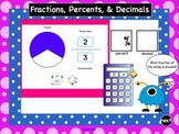 SMARTBoard Interactive Fraction, Percent, and Decimal Practice
