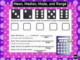 SMARTBoard Interactive Mean, Median, Mode, and Range Practice