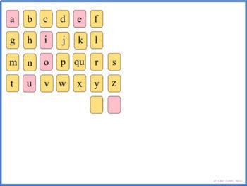 Fun Phonics Kindergarten Smartboard Letter Tile Sound Card