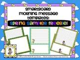 SMARTBoard Morning Message Templates FREE Spring Sampler