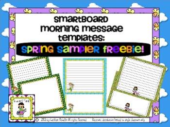 SMARTBoard Morning Message Templates FREE Spring Sampler