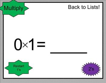 SMARTBoard Multiplication Practice