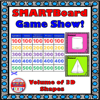 SMARTBoard Game Show: Volume of 3D Shapes
