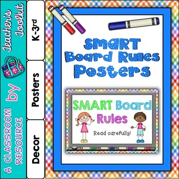 SMARTBoard Rules Poster Set {UK Teaching Resource}
