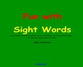 SMARTBoard Sight Word Game