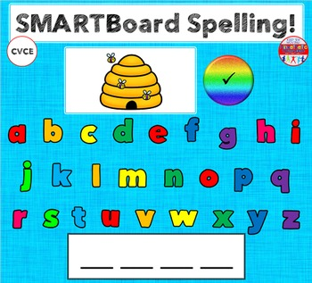 SMARTBoard Lesson - Spelling CVCE Words