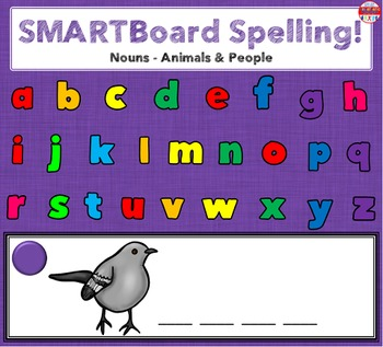SMARTBoard Lesson - Spelling Nouns: Animals & People