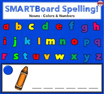SMARTBoard Lesson - Spelling Nouns: Colors & Numbers
