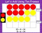 SMARTBoard Using Ten Frames to Add {Teen Frame}