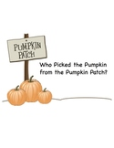 SMARTBoard Who Picked the Pumpkin from the Pumpkin Patch