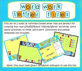 SMARTBoard Word Work Letter Tiles