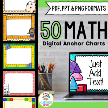 smartboard and powerpoint background templates math theme tpt