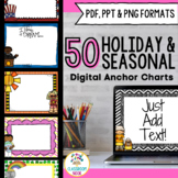 SMARTBoard and PowerPoint Background Templates {Monthly Holidays}