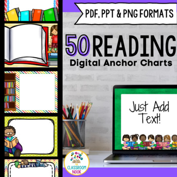 SMARTBoard and PowerPoint Background Templates {Reading Theme}