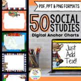 Social Studies Themed Digital Anchor Chart Templates