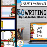 SMARTBoard and PowerPoint Background Templates {Writing Theme}
