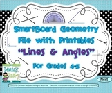Geometry SMARTBoard and Printables Bundle: Lines and Angles